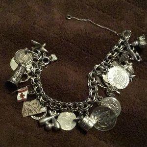 Jewelry - LOADED & HEAVY - VINTAGE STERLING SILVER BRACELET/
